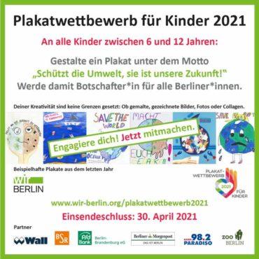 """Aufruf zum Plakatwettbewerb """"Schützt die Umwelt, sie ist unsere Zukunft!"""""""