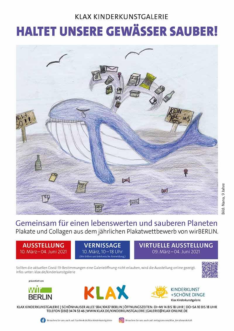 Klax Ausstellung Plakatwettbewerb Haltet unsere Gewässer sauber