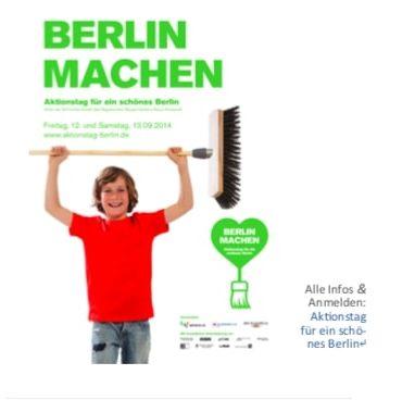 Berlin machen Werbung