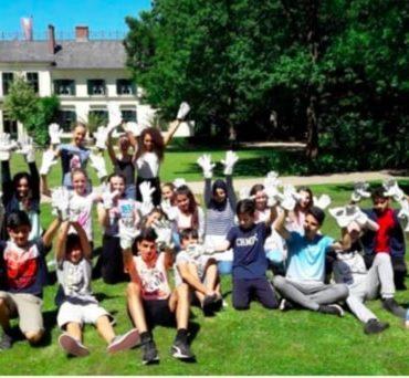 Gemeinsames Gruppenfoto nachdem Cleanup