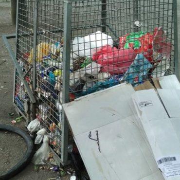 Die Berliner Mülleimer sind voll