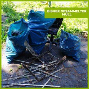 gesammelter Müll Mülltüten