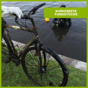 Fahrrad Spree Kanal Tauchen