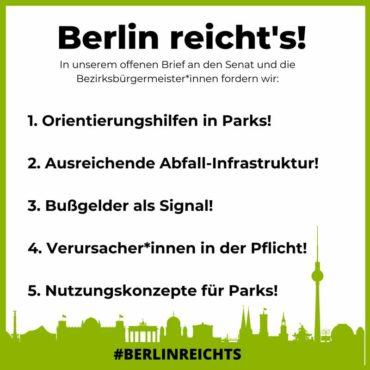 Berlin reicht's - Offener Brief an Buergermeister