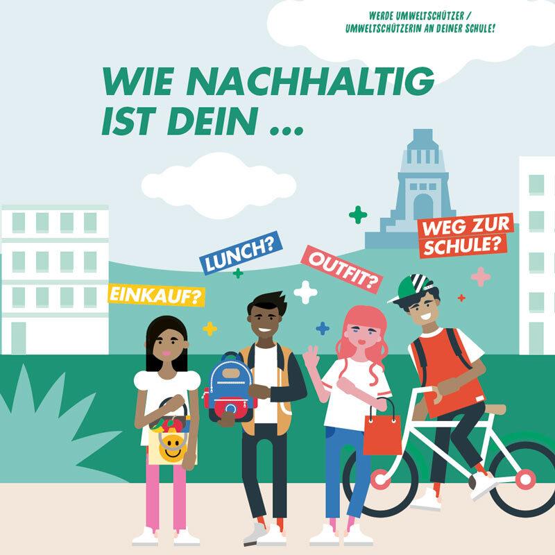 Das Umweltschützerpaket mit den vier Helden in Leipzig